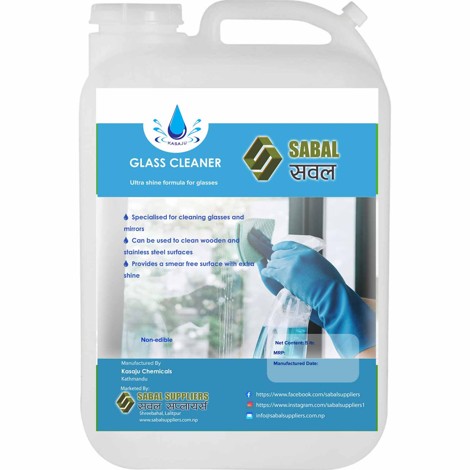 Sabal Glass Cleaner 5 ltr