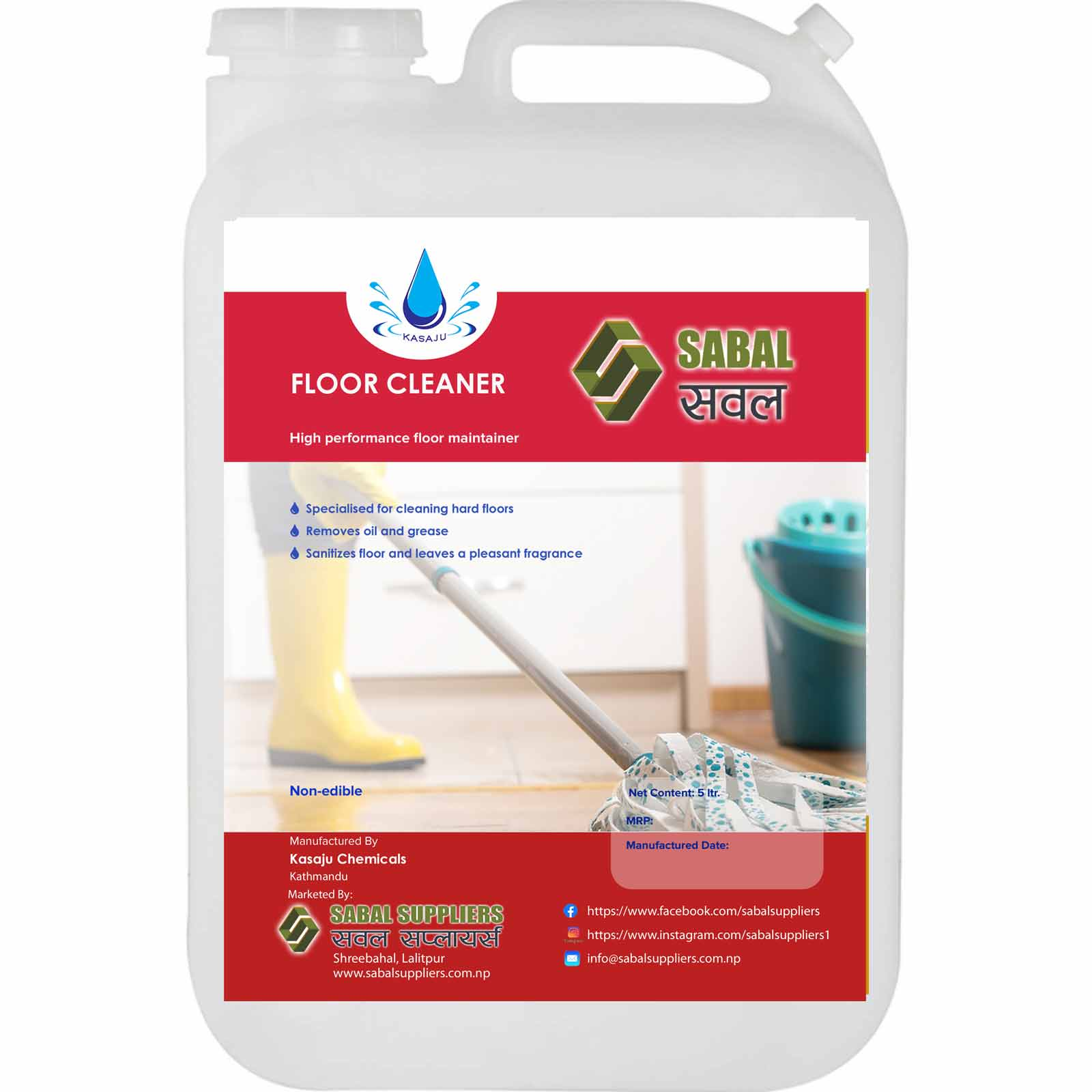 Sabal Floor Cleaner 5 Ltr.