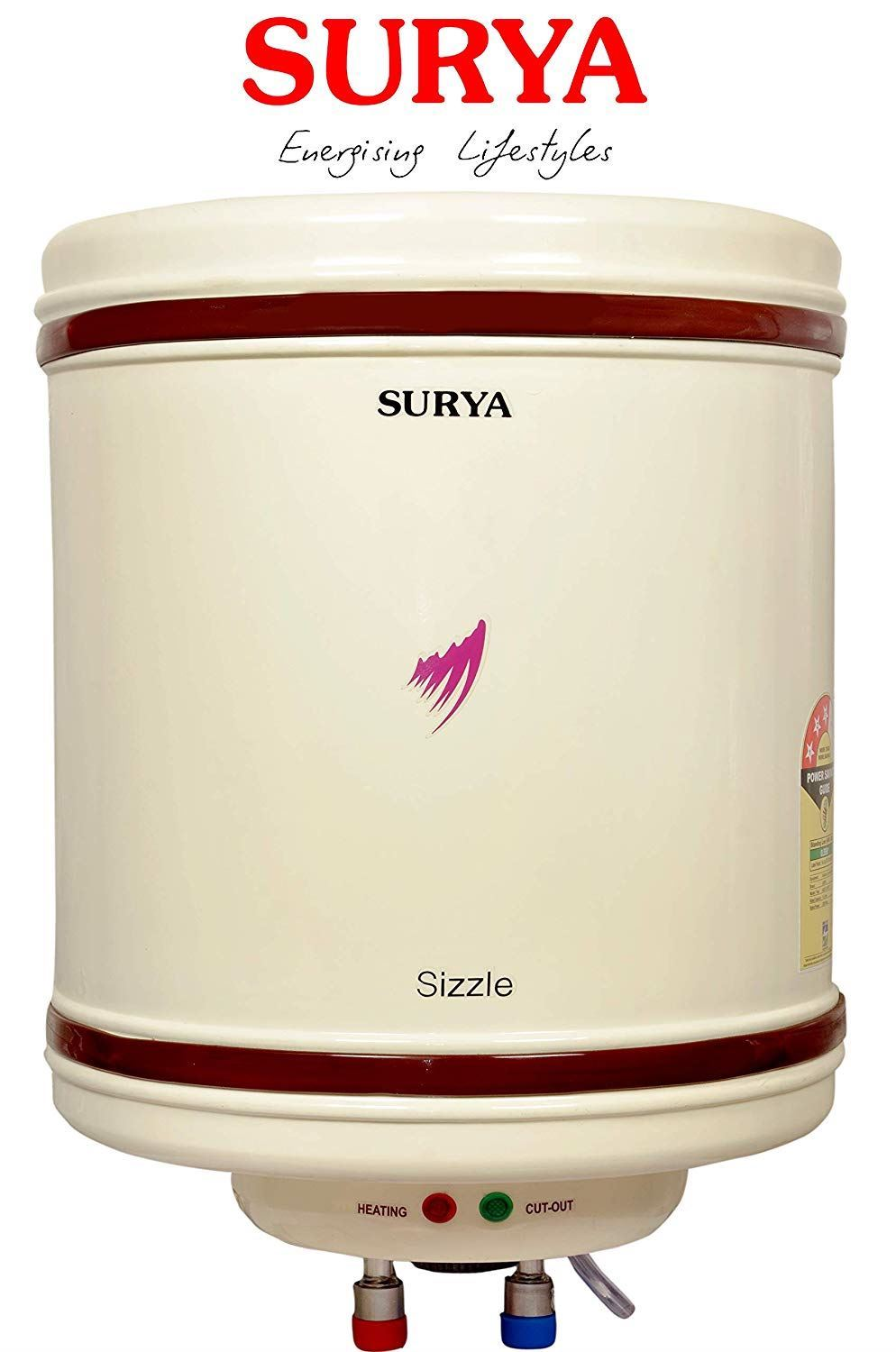 SURYA SIZZLE STORAGE WATER HEATER 25LTR